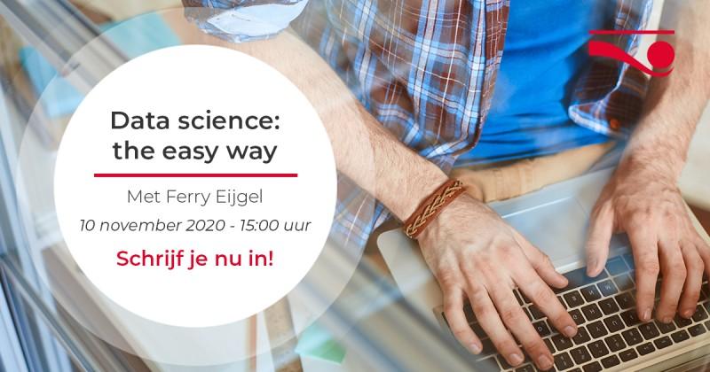 HeadsUp webinar 'Data science: the easy way'