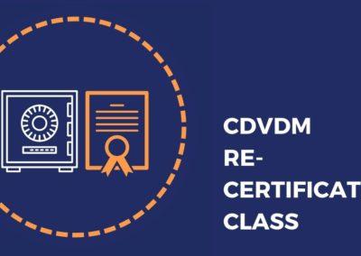 CDVDM Recertification Class